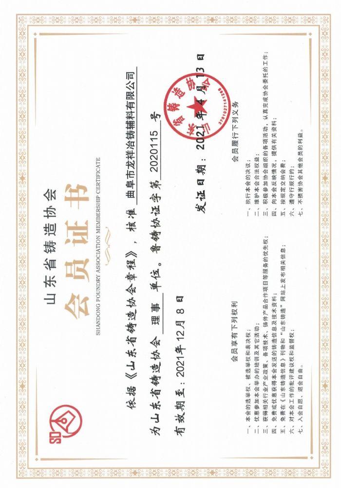 山东省铸造协会理事单位